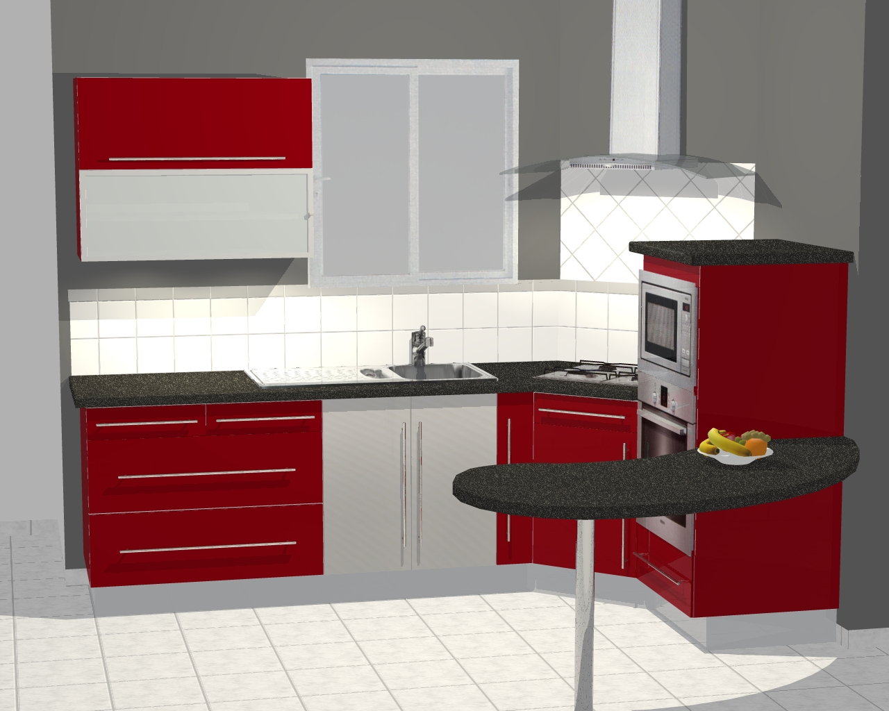 Cuisine conception 3d for Cuisines ikea 3d