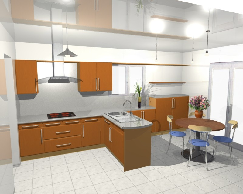 Conception et cr ation de cuisines en 3d for 3d cuisine deluxe
